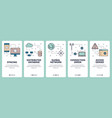 Line art web and mobile app template set