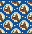 little puppies seamless pattern vector image