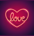 love heart neon sign vector image vector image
