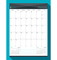 May 2016 Design Print Template Monthly Calendar vector image