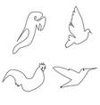 monoline birds vector image