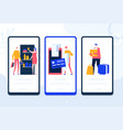 online shopping - set web pages vector image vector image