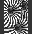 optical spiral tunnel hole effect striped 3d