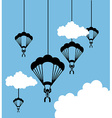 parachute fly vector image