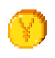 pixel yen 3d icon vector image vector image