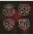 Racing badges for t shirt vector image vector image