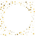 round gold frame or border of random scatter vector image