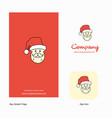 santa clause company logo app icon and splash vector image