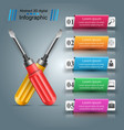 screwdriver repair icon business infographic vector image vector image
