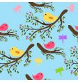seamless birds vector image