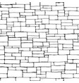 seamless brick wall background drawn with ink vector image vector image