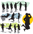 set business people silhouette vector image vector image
