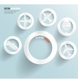 Set of banners with circles fly and sky vector image