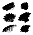 Set of different grunge brush stains vector image vector image
