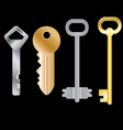 set of different keys isolated objects vector image vector image