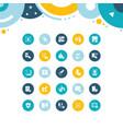 set simple icons biometrics vector image