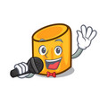 singing rigatoni mascot cartoon style vector image vector image