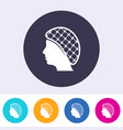 single hairnets must be worn icon vector image vector image