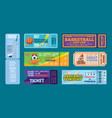 sport tickets football hockey action events vector image