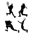 sports figures vector image vector image