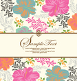 Spring floral background with place for text vector image