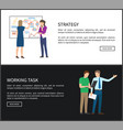 strategy work task collection vector image vector image