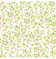 summer and spring background with leaves and vector image vector image