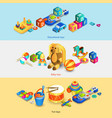 Toys Isometric Banners vector image