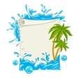 Travel poster with water vector image vector image