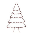 tree pine cartoon vector image vector image