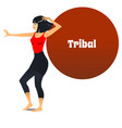 tribal dancer in cartoon style vector image