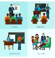 University People Set vector image