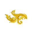 vintage baroque corner ornament luxury golden vector image vector image