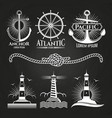 vintage marine nautical logos and emblems vector image
