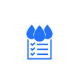 water quality check icon on white vector image vector image