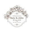 wedding vintage card vector image vector image