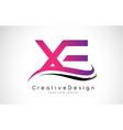 xe x e letter logo design creative icon modern vector image vector image
