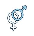 gender symbolof men and women on white background vector image