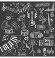 Hand drawn music set vector image