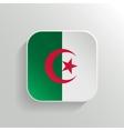 Button - Algeria Flag Icon vector image