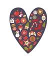 Christmas Heart vector image