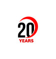 20th anniversary abstract logo twenty vector image vector image