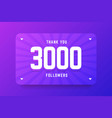 3000 followers in gradient violet vector image vector image