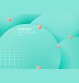 abstract 3d liquid fluid circles green mint pink vector image vector image