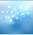 abstract blue sky background with blur bokeh light vector image vector image