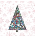 Abstract Christmas fir tree background Hand drawn