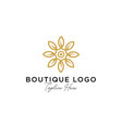 abstract elegant tree leaf flower logo icon vector image vector image