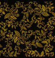 abstract hand drawn gold pattern vector image vector image