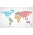 Abstract world map of round dots vector image vector image