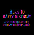 alice 10 font childrens vector image